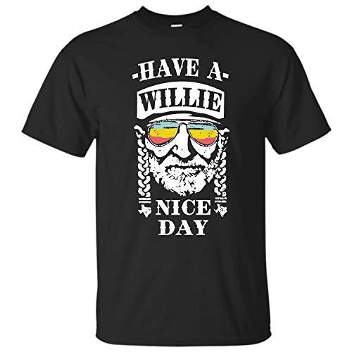 Monashirts Have A Willie Nice Day Shirt Black ()
