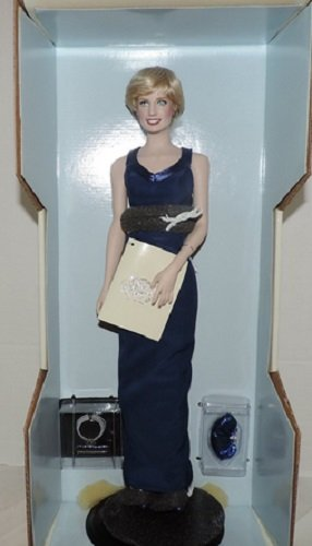 Diana Princess of Wales Porcelain Portrait Doll By the Franklin Mint Princess Di from Franklin Mint