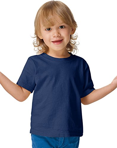 Hanes ComfortSoft Crewneck Toddler T-Shirt T120, 3T, (Blank Toddler Shirts)