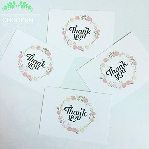 50pcs/lot THANK YOU style Leave a Message Paper Cards Gift Decoration Card Greeting card or Rewards Card ZS005 ()
