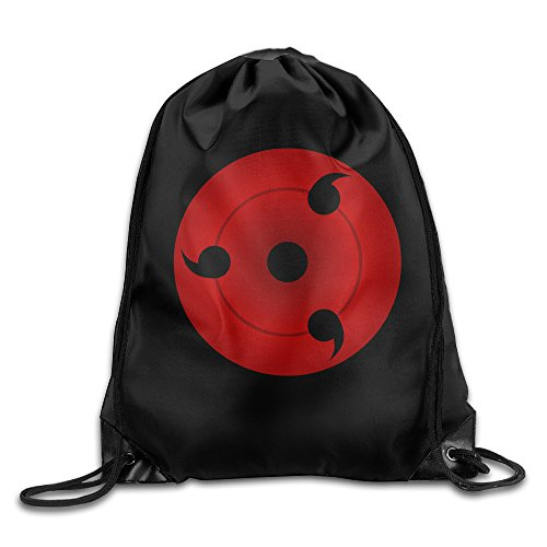 VOLTE Sharingan Eyes Japanese Comic Naruto Shippuden Drawstring Bags Running White Backpack Sport Bag For Men & Women School Travel Backpack For Teens College