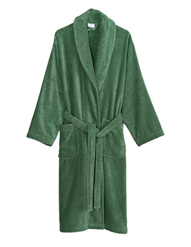 Organic Terry Robe (TowelSelections Men's Robe, Organic Cotton Terry Shawl Bathrobe Medium/Large Deep Grass Green)