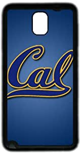 NCAA California Golden Bears Samsung Galaxy Note 3 N9000 Case, Soft Material TPU Black Skin Protector Cover DIY by Hahashopping