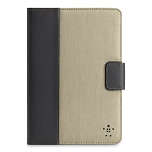 Chambray Tab Cover / Case with Stand for Apple iPad mini (Khaki) from Belkin Components