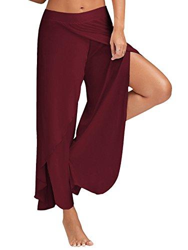 Wine Red YICHUN YICHUN Donna Pantaloni Pantaloni w7qWR6
