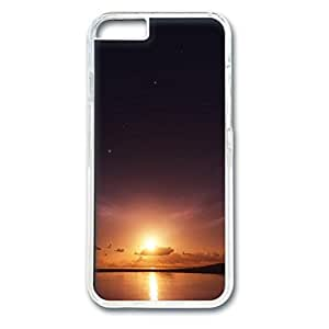 Sunset Personalized Design Transparent PC Case for Iphone 6 Distance