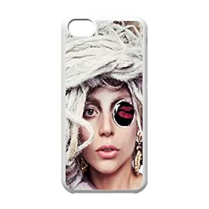 iPhone 5c Cell Phone Case White Lady-Gaga Custom Phone Case Cover For Women CZOIEQWMXN19492