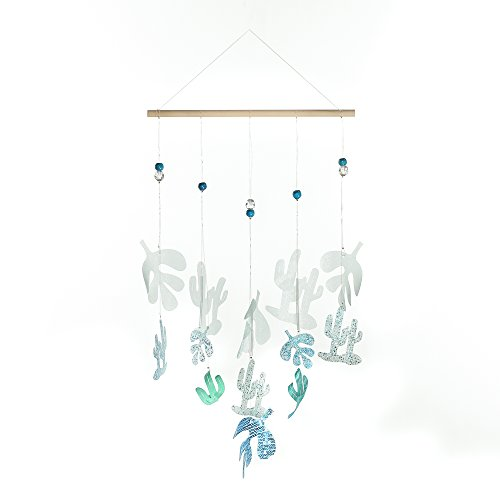 Shabby Chic Hanging - Roser Life Hanging Wall Decor⎮Hanging Decorative Mobile Home Decor⎮Handmade Shabby Chic Wall Art Signs Sculpture Plaque Posters⎮Outdoor Door Room Party Kitchen Decorations Turquoise Cactus(Pack of 1)