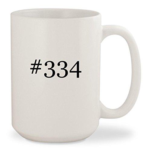 #334 - White Hashtag 15oz Ceramic Coffee Mug Cup