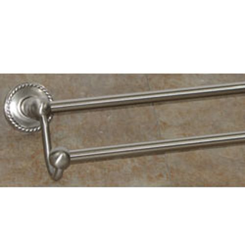 Top Knobs ED11BSNF Edwardian Bath 30 Inch Double Towel Bar Rope Backplate