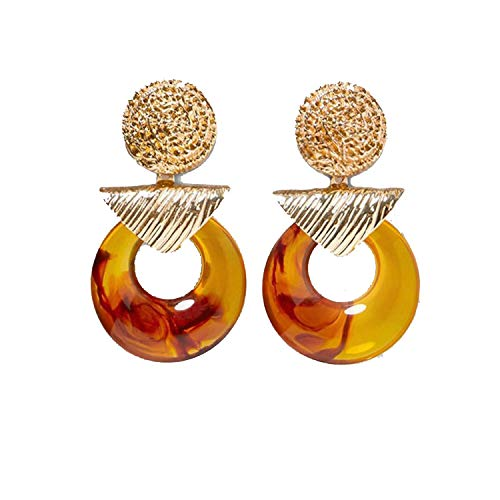 (Fashion Resin Drop Earring Wedding Jewelry Elegant Shiny Dangle EarringsMulticolored)