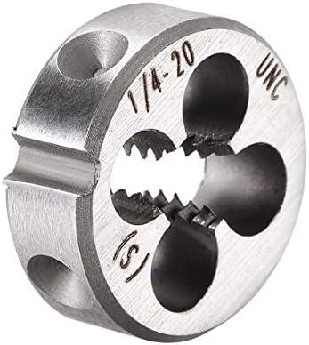 uxcell 1/4-20 UNC Round Die Machine Thread Die 0.8 OD Round Threading Die Tool Steel 6G Accuracy Class