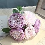 TRvancat-Artificial-Flowers-2-Pack-Silk-Peony-Flowers-Bouquet-10-Heads-Fake-Flowers-for-Wedding-Home-DecorationPurple