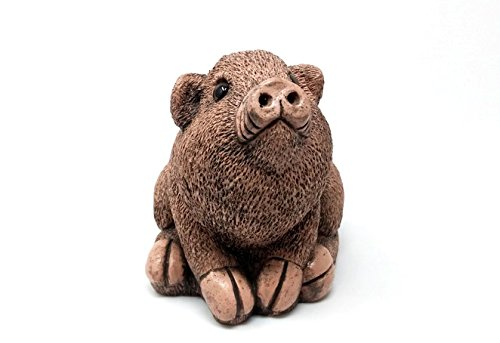 Bigelow Studios Piglet Garden Decor - Outdoor Sculpture, Statue, Yard Decoration, Lawn Ornament, Accessories and Garden Gift For Flower Pots, Planters And Around The House (Pacino, Dusty Rose)