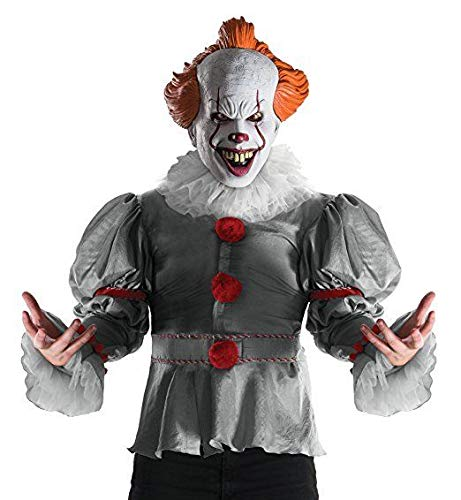 Rubies Deluxe It Movie 2017 Pennywise Adult Mens Clown Halloween Costume 820859 -