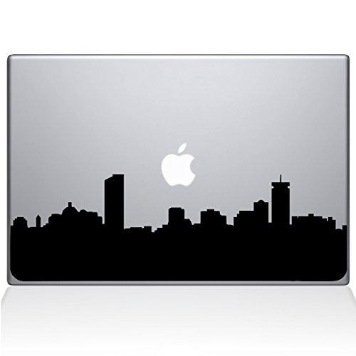 "Price comparison product image The Decal Guru Boston City Skyline Decal Vinyl Sticker, 13"" MacBook Pro (2015 & Older Models), Black (2329-MAC-13P-BLA)"