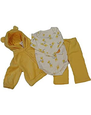 Baby Boy 3 piece Giraffe Ensemble, Yellow