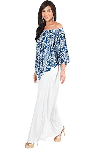 ee70860748 KOH KOH Womens Long Strapless Flowy Poncho Cocktail Evening Gown Maxi Dress