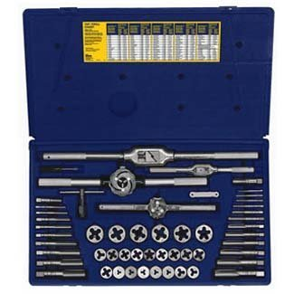 Irwin Industrial Tools 26394 Metric Tap and Hex Die Set, 53-Piece by Irwin Tools by Irwin Tools