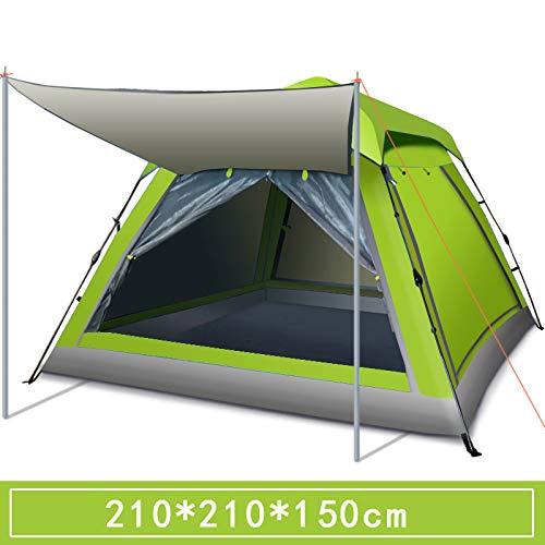 Cw Campingzelt 3-4 Personen automatisch Pop-Up Wasserdicht Camping Wandern Ausflug Strand Zelt Familiengruppe
