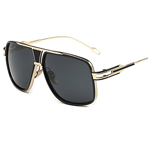 Kaimao Classic Aviator Sunglasses Metal Frame UV Protection Unisex Goggle Sunglasses with Case and Cloth - Gold and - Dizzy Make You Sunglasses Can