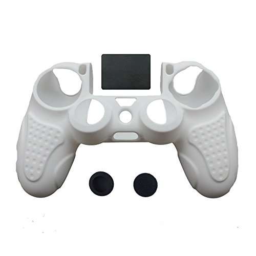 IINE-Anti-slip-Silicone-Cover-Skin-Set-for-PlaySation-4-controller-white