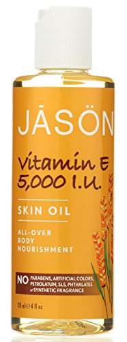 Jason Vitamin E 5,000 IU All-Over Body Nourishment Oil, 4 Fluid Ounce
