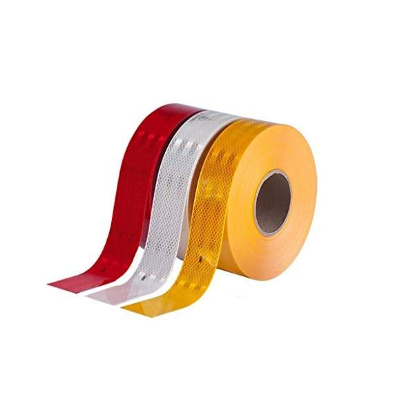 Woniry High Intensity Reflective Multi Colour Tape 24mmX5Meter(5 mtr Each Color)