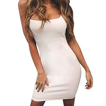 dcc3eccb1a640 Modaworld Vestidos de Fiesta Cortos Sexy Vestido Ajustado sin Tirantes de  Verano para Mujer Mini Vestido