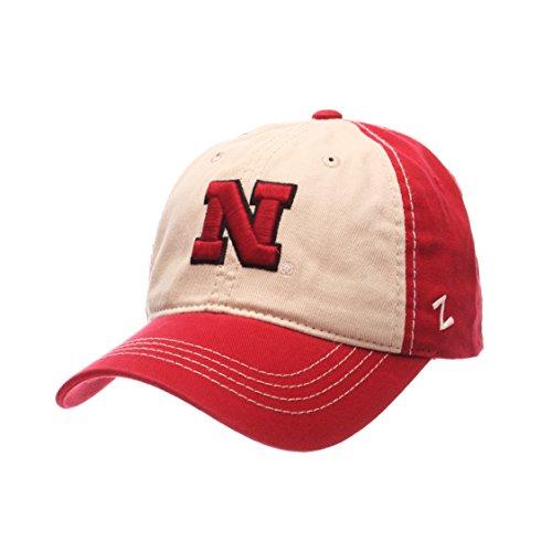 Adjustable Stone//Red Zephyr NCAA Nebraska Cornhuskers Mens Sigma Relaxed Cap