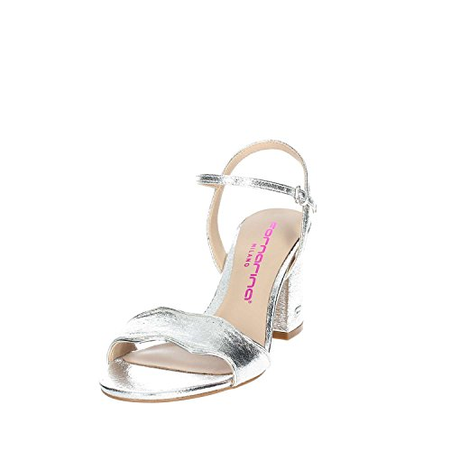 Fornarina with PE18YF2875M090 Sandals Shoes Woman Silver Heel rXwrTPxtq