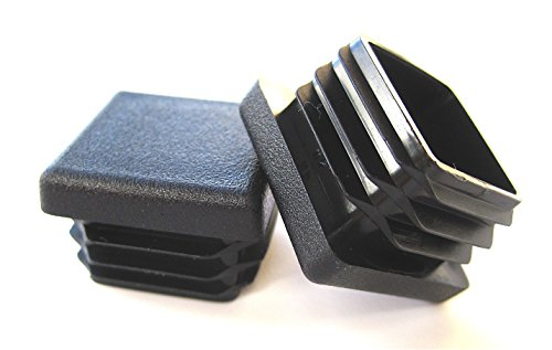 10 Pack: 1 Inch Square Plastic Plug, Tubing End Cap, Durable Chair Glide (End Plastic Tube Caps)