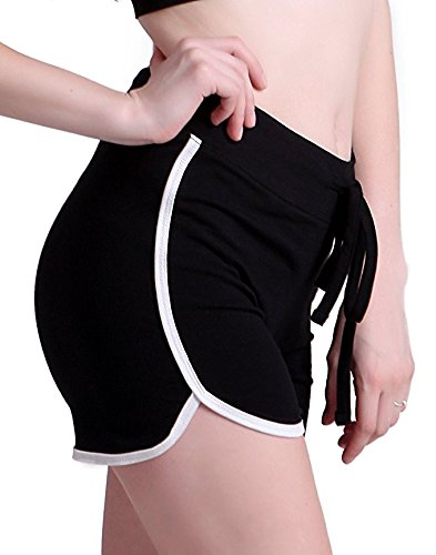 Women's Low Waist Shorts I Am Fine Casual Yoga Pants Elastic Beach Sgort Sexy Hot Summer Jogging Sports Shorts by MB32 (Image #4)