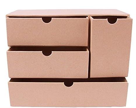 Cassettiere Di Cartone.Mp Pd209 Portagioie In Cartone Con 4 Cassetti Amazon It