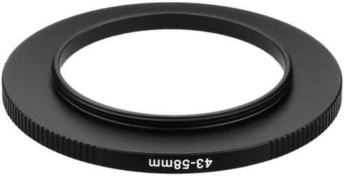 3 Pack Sensei PRO 43mm Lens to 58mm Filter Aluminum Step-Up Ring