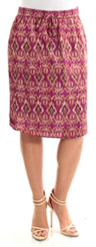 LAUREN RALPH LAUREN Womens Printed Straight-Fit Pencil Skirt Purple XS