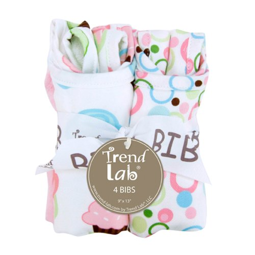 Trend Lab Kids Baby Infant Bouquet 4 Pack Bib - Cupcake Toys Christmas ()