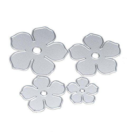 2017 Hot Sale! AMA(TM) Flower Metal Cutting Dies Stencil Template Mould DIY Scrapbooking Embossing Album Paper Card Craft Decor (A)