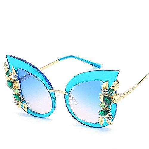 Gafas y Gafas Gafas Diamante Regalos Sol Moda Gato Ojo Sol Nueva FE Marco los de Europa Axiba Tendencia Unidos Grandes un con Personalidad de Sol de de Estados de G creativos Hombres Marco BqAFF5