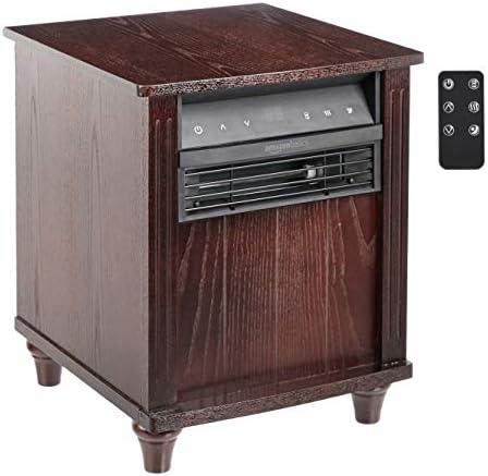 AmazonBasics Cabinet Style Space Heater, Brown Wood Grain Finish, 1500W
