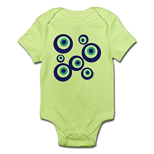 CafePress Mod Evil Eyes - Cute Infant Bodysuit Baby Romper - Mod Evil Eyes