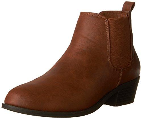 Ladies Bootie - Refresh - Ladies Tildon-02 Simple Ankle Bootie, Cognac 38859-8B(M) US