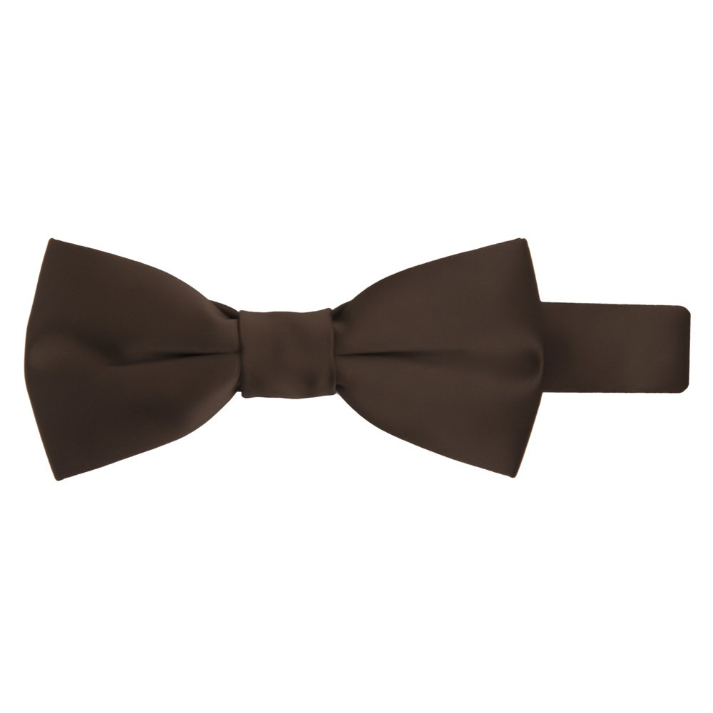 Jacob Alexander Boys Kids Pretied Banded Adjustable Solid Color Bowtie