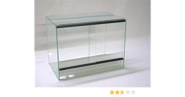 Terrario 60 x 30 x 40 cm Con puerta corredera, cristal Terrario, arañas, gekkos, insectos, Anfibios: Amazon.es: Productos para mascotas