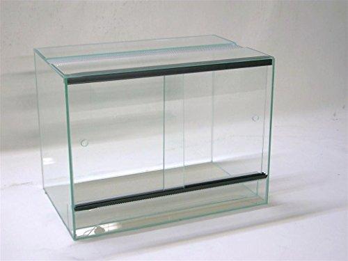 Terrarium 50x30x40 cm mit Schiebetür, Glasterrarium, Spinnen, Gekkos, Insekten, Amphibien, Skorpion