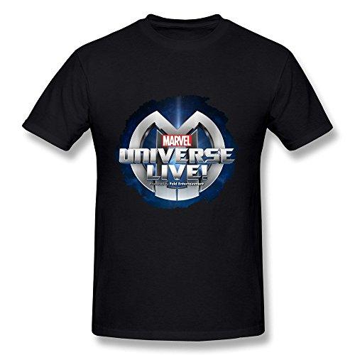 Men's Jersey Marvel Universe Live Logo T-shirt (Marvel Universe Live compare prices)