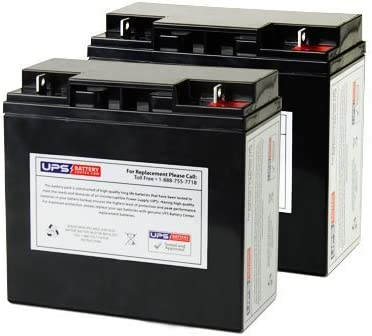 Set of 2 Replacement UB12220 Universal Sealed Lead Acid Battery UPG C6229 Battery 12V, 22Ah, 22000mAh, NB Terminal, AGM, SLA