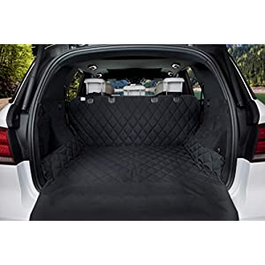 BarksBar Luxury Pet Cargo Cover & Cargo Liner for Dogs - 80 x 52 Black, Quilted Waterproof Machine Washable & Nonslip Backing with Bumper Flap Protection- for Cars, Trucks & SUVs 9