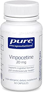 Pure Encapsulations - Vinpocetine 20 mg - Hypoallergenic Supplement to Support Cognitive Function and Cerebrovascular Health* - 60 Capsules