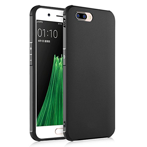 OPPO R11 Case, BasicStock Slim Shockproof Protects Phone Case Slim Protective Case,High Impact Defender Bumper Case for OPPO R11 Black